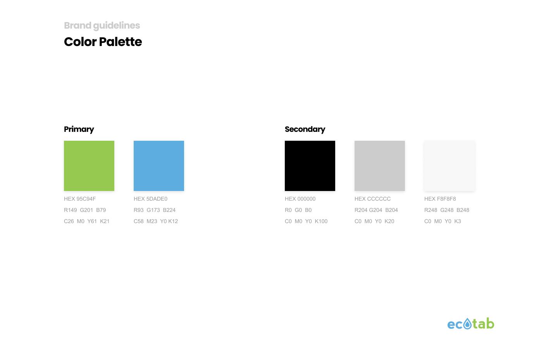 Ecotab color palette